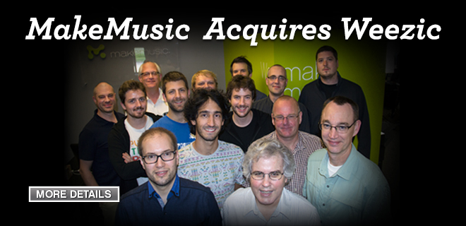 MakeMusic Acquires Weezic