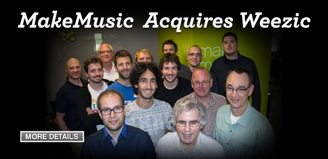 MakeMusic Acquires Weezic