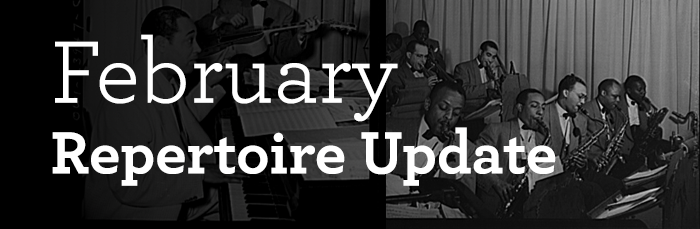 February Repertoire Update