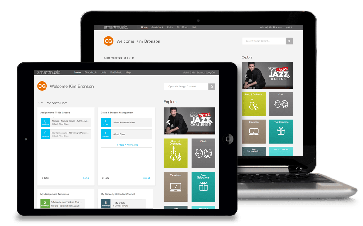 SmartMusic works on many devices