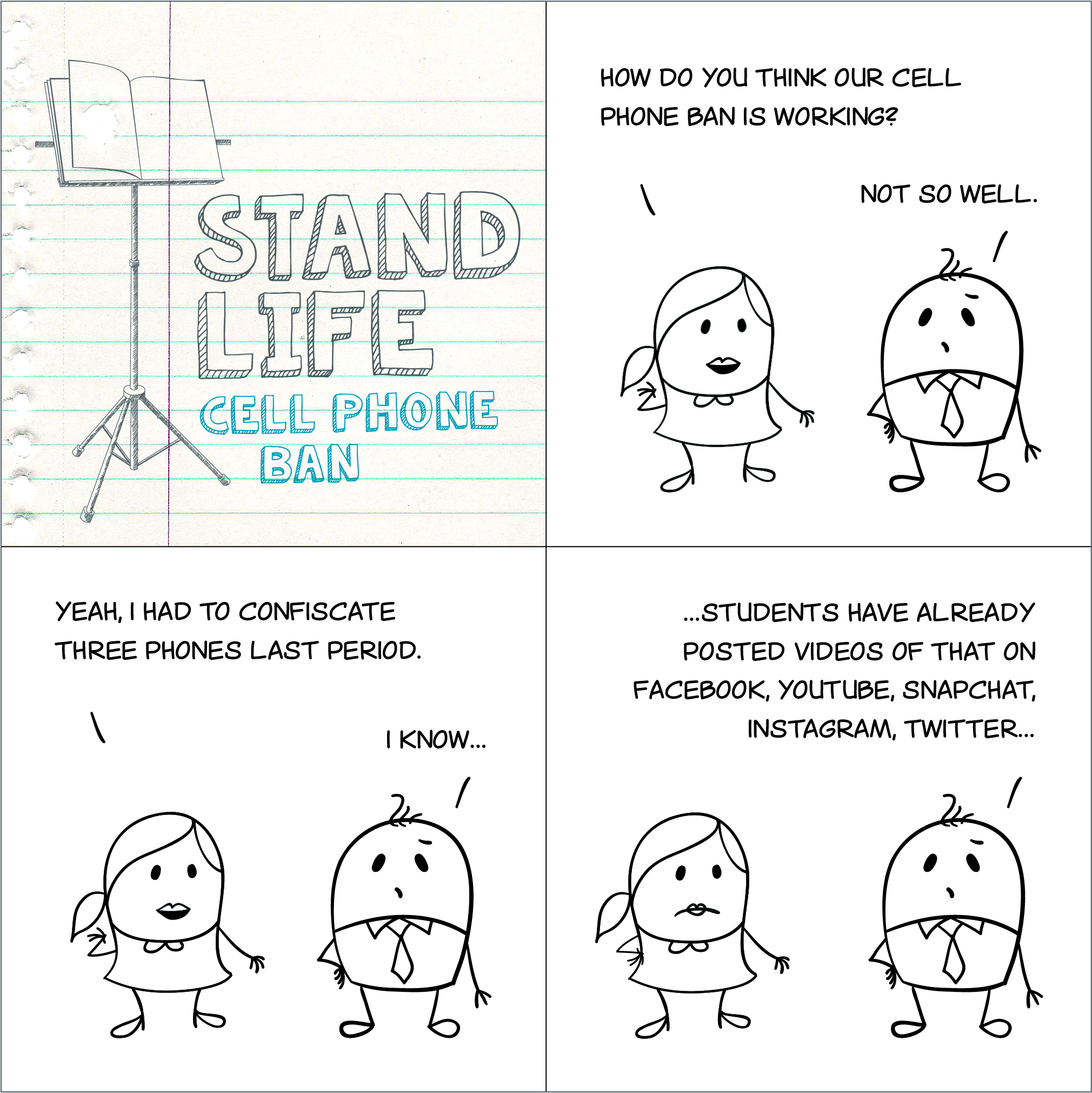 Stand Life comic - Cell Phone Ban