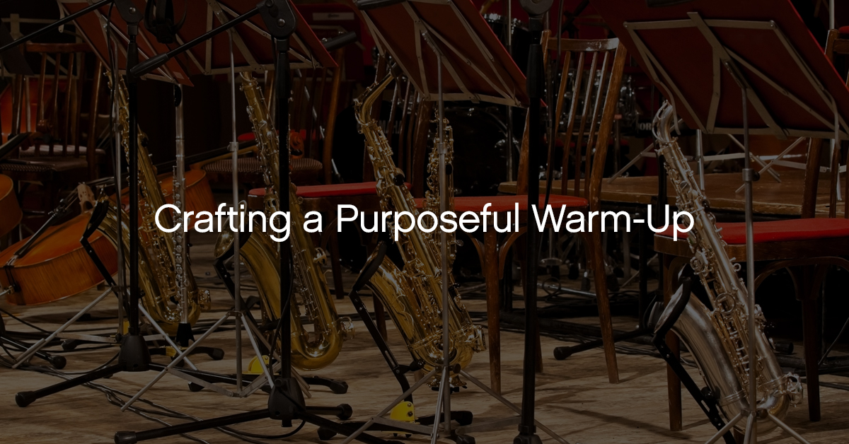 Bruce Pearson on Crafting a Purposeful Warm-Up