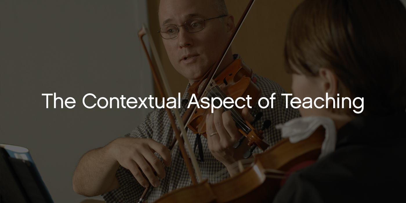 Dr. Tim Lautzenheiser on the Contextual Aspect of Teaching