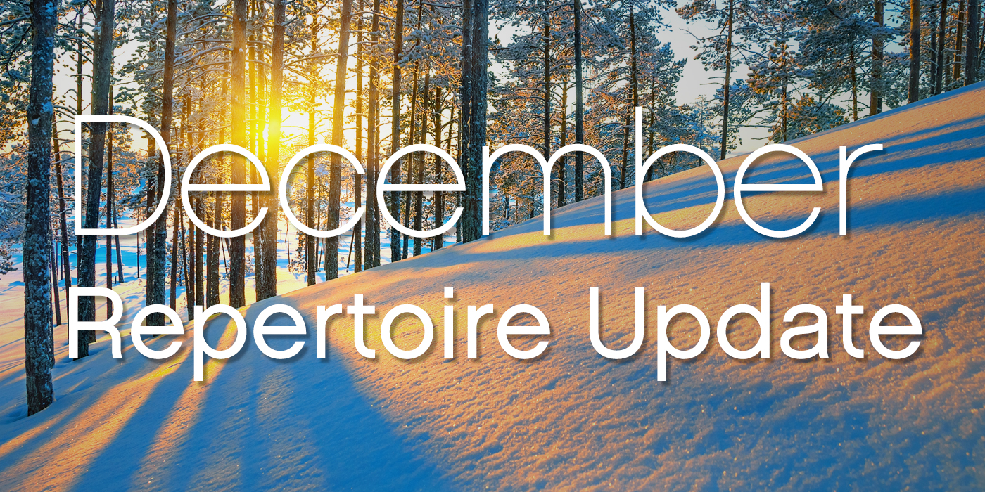 SmartMusic Repertoire Update: December 2017