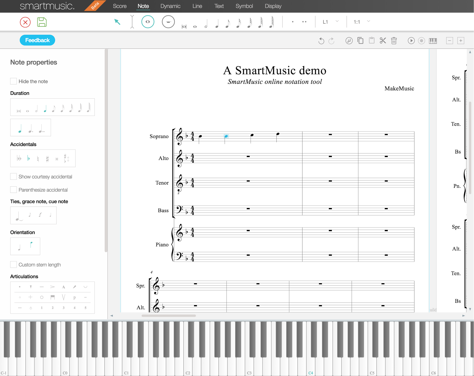 Create and Edit Music Notation within the New SmartMusic 2