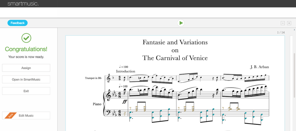create and edit music notation within the new smartmusic smartmusic
