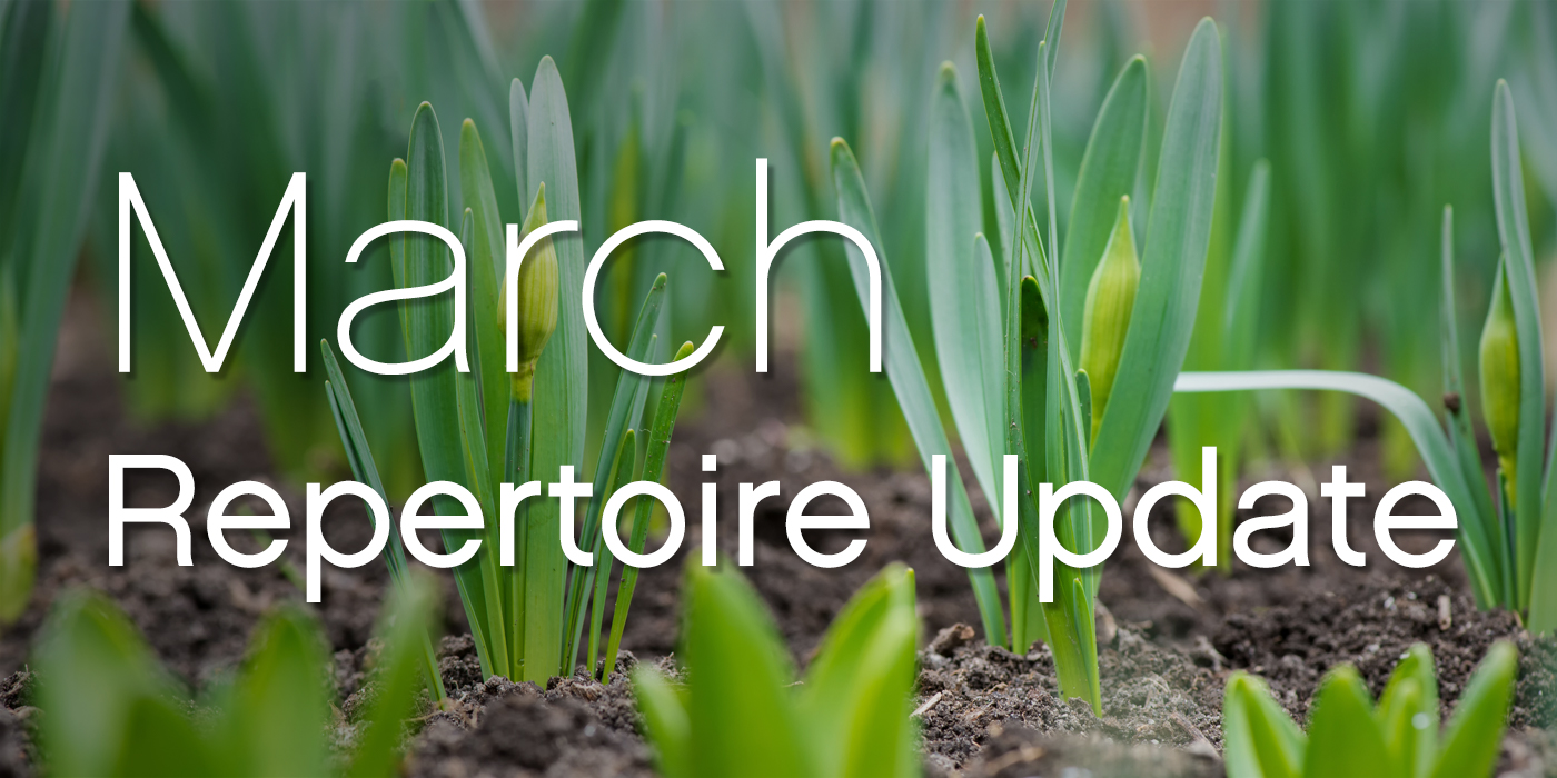 SmartMusic Repertoire Update: March 2018
