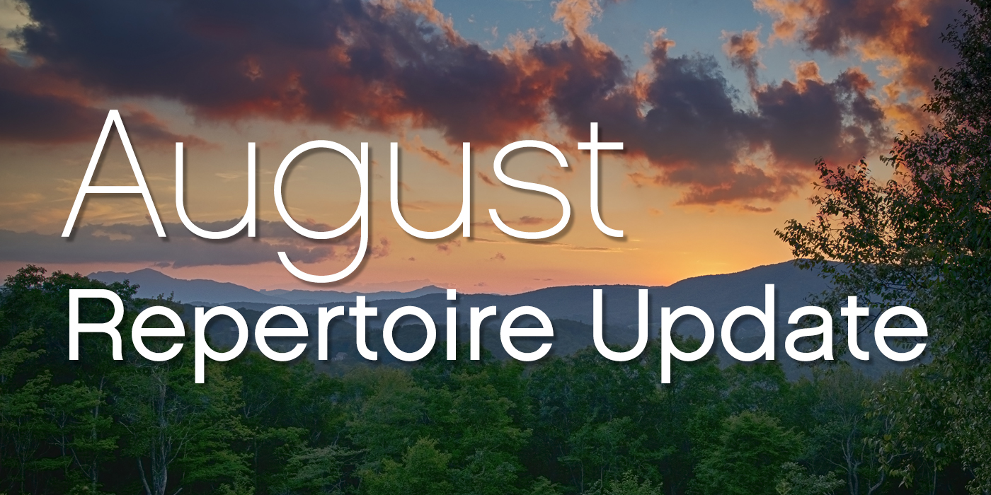 SmartMusic Repertoire Update: August 2018