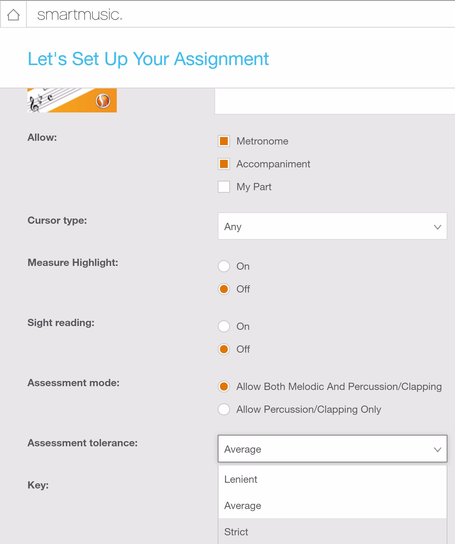 New: Three Levels of Assessment Tolerance in SmartMusic 1