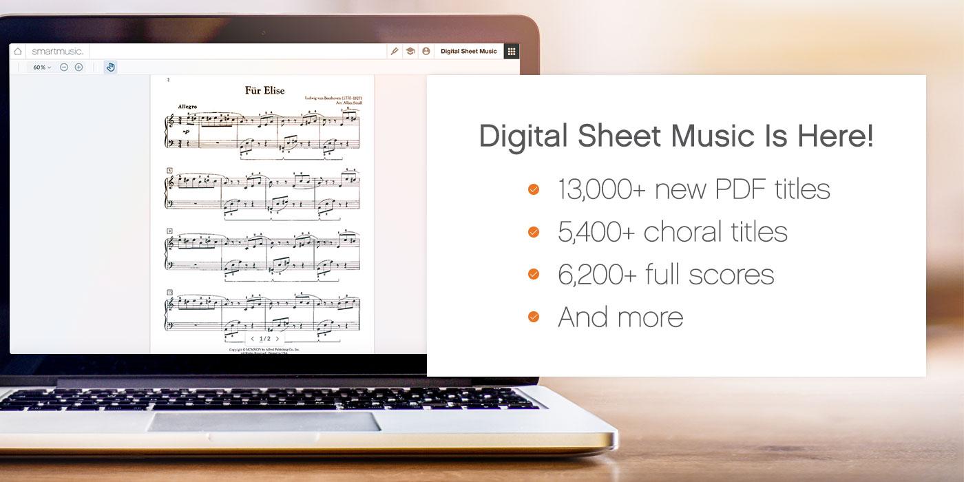 digital sheet music library