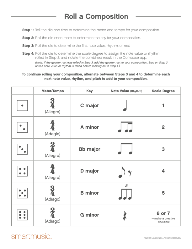 roll a composition pdf