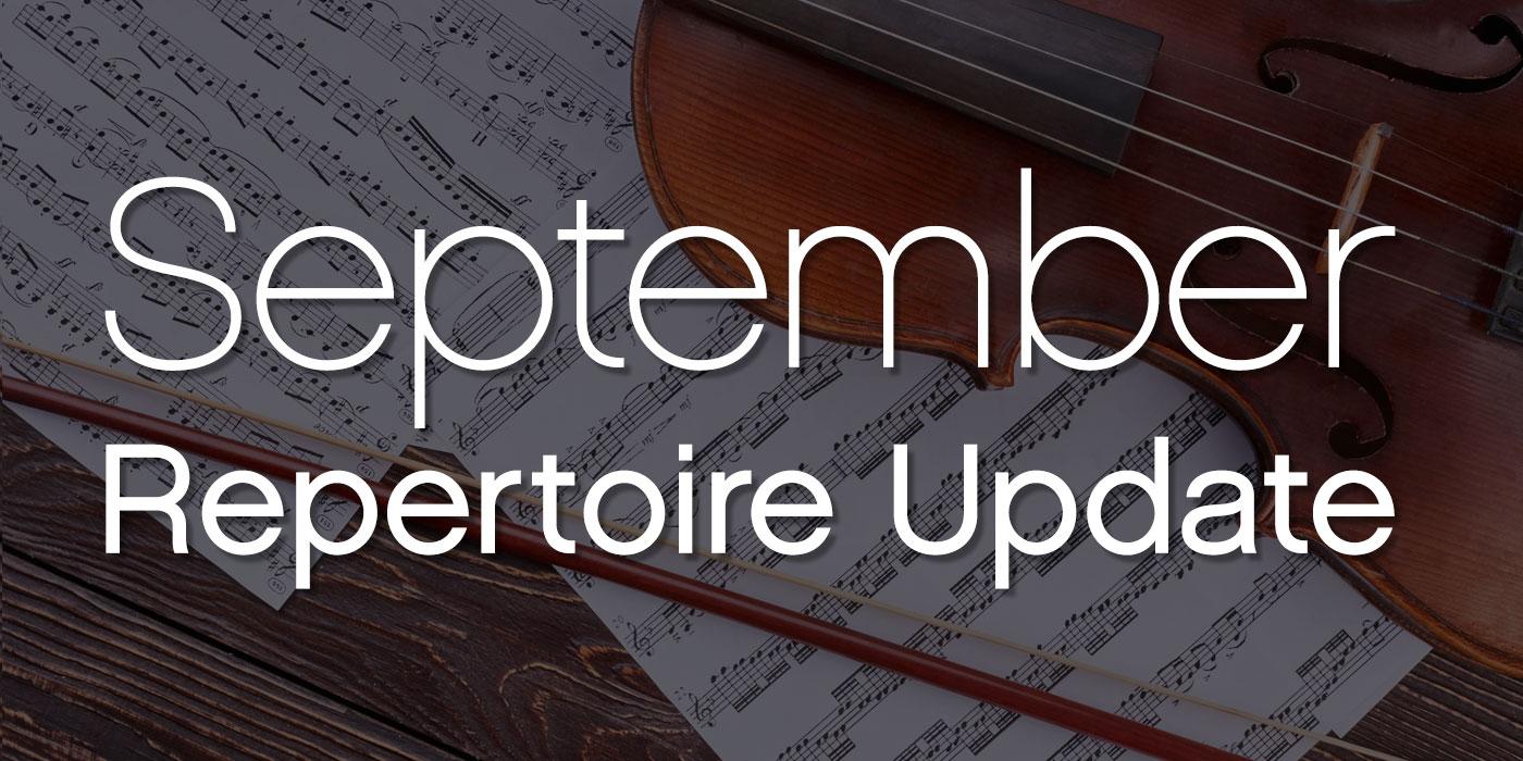 september repertoire update